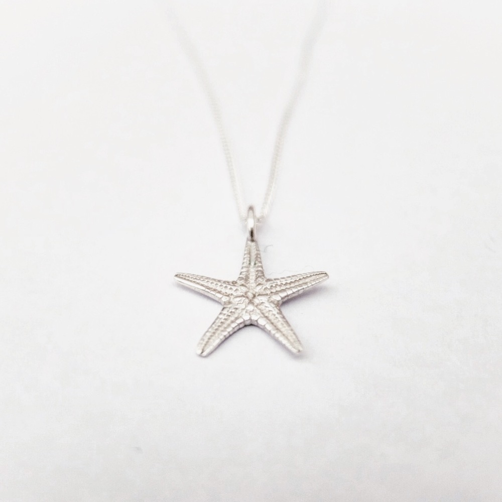 Silver Starfish Pendant / Necklace
