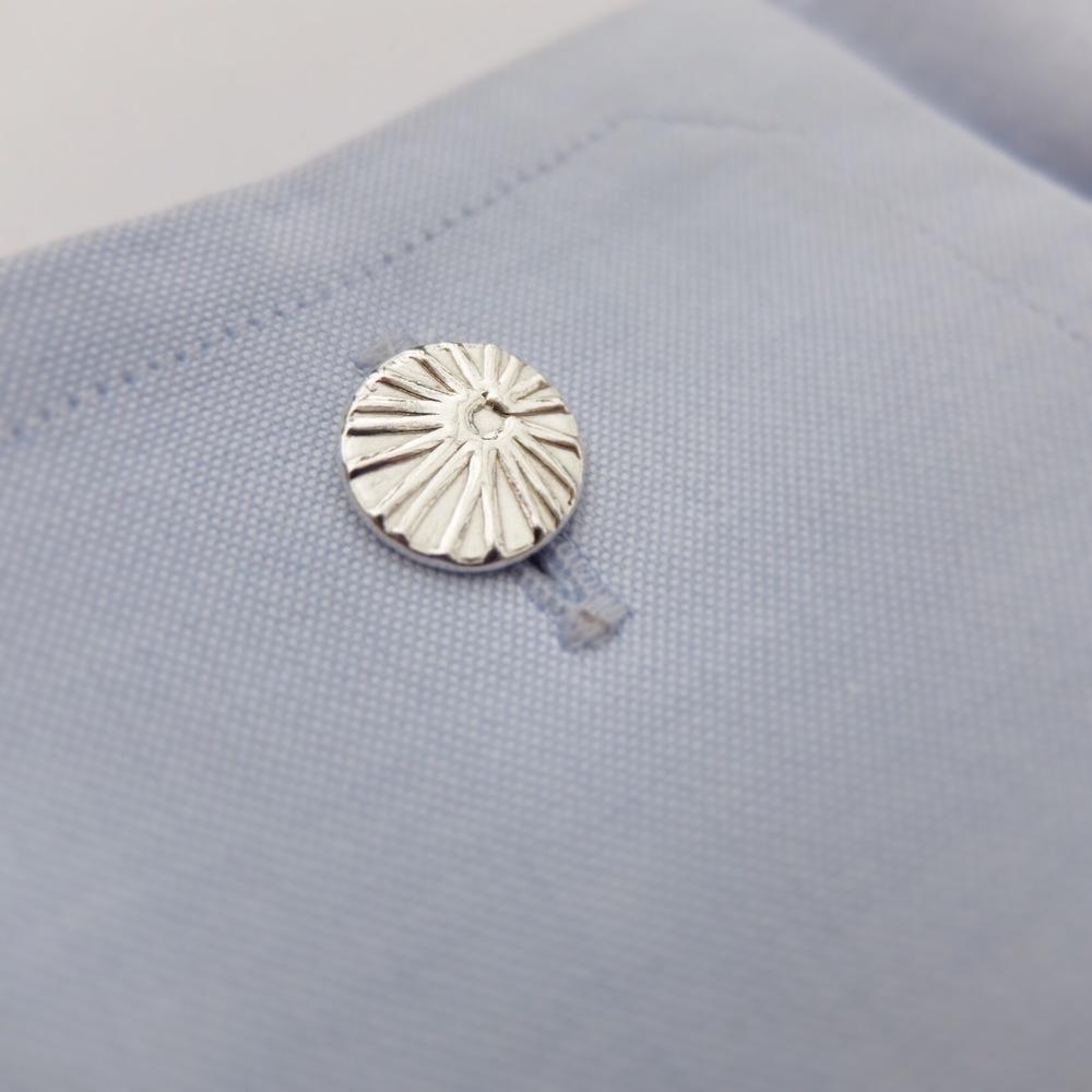 Silver Coral Cufflinks