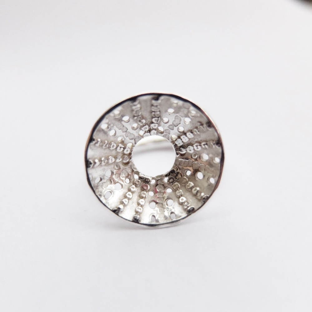 Silver Sea Urchin Ring