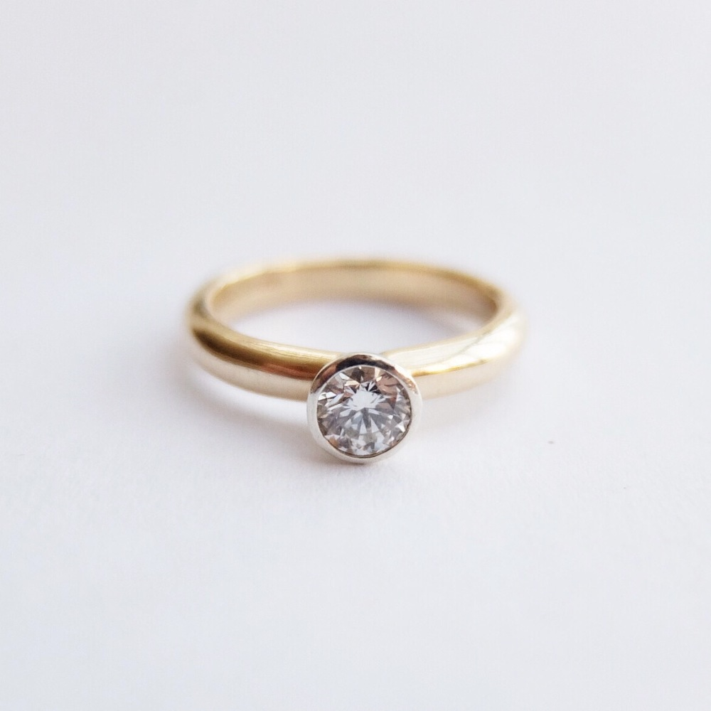 jasmine bowden 0.36ct 0.4ct, 0.3ct diamond engagement ring handmade uk devon 9ct yellow gold 9ct white gold bespoke.jpg