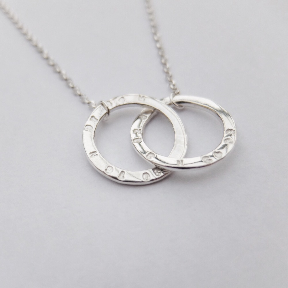 co ordinates necklace sterling silver circle pendant handmade devon uk jasmine bowden .jpg