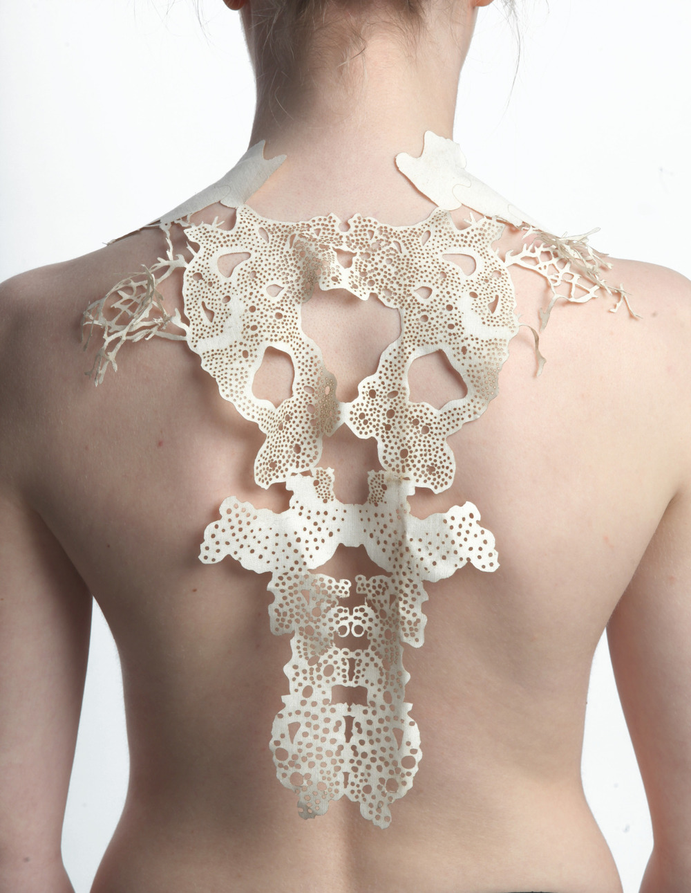 Laser Cut Calico Textile Back Piece (Photography by James Mann)