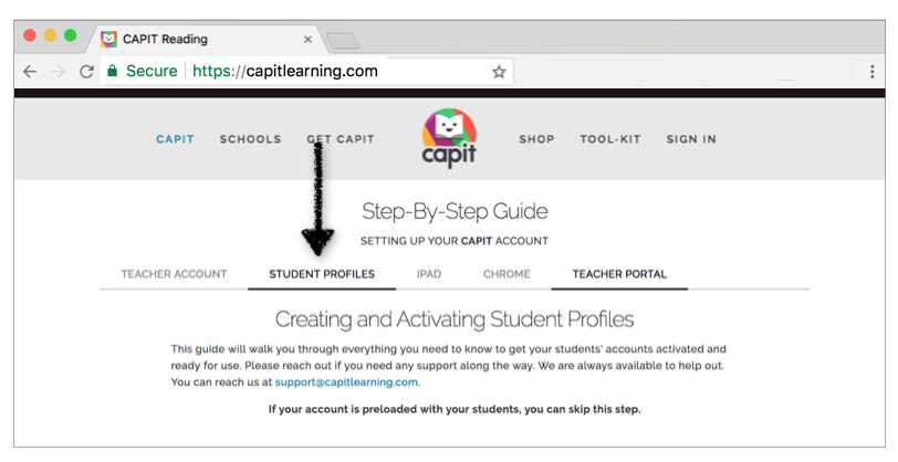 Don't see your students? - Follow our Step-By-Step Guide to creating and Activating Student Profiles