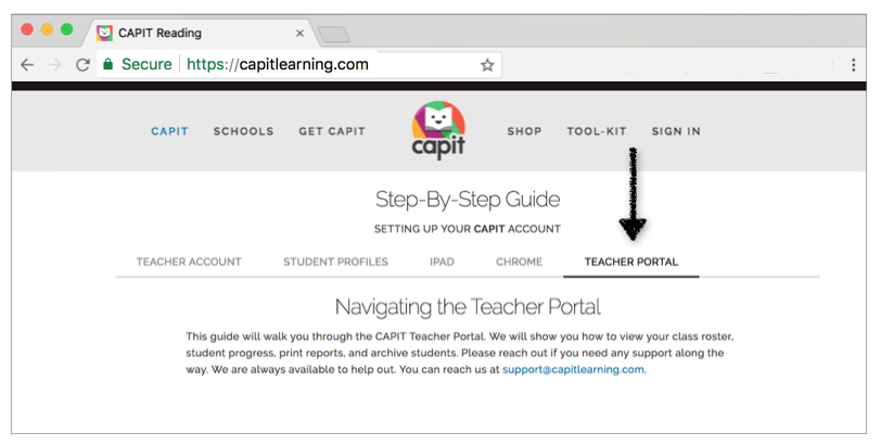 Learn to Navigate the Teacher Portal - Follow our Step-By-Step Guide to Navigating the Teacher Portal