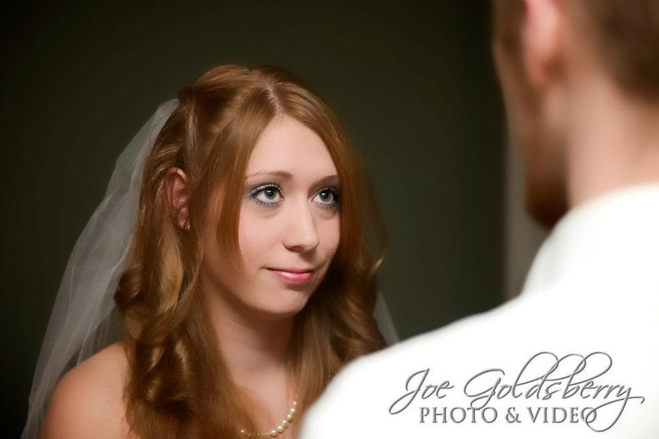 "Stacie and Justin say ""I do"" at the Church Street Chapel in an intimate wedding ceremony."