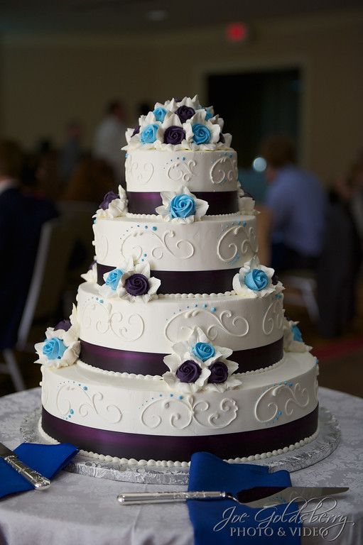 "A great shot of the the wedding cake ""before""..."