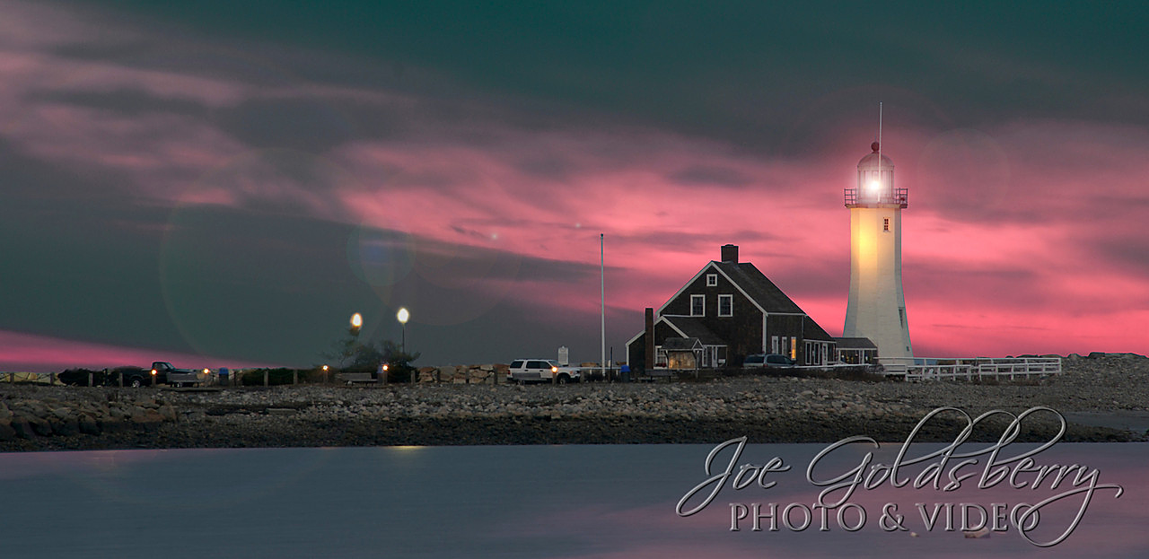 Scituate Light in all her glory. Is that orb a ghost from maritime past?