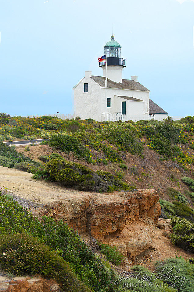 Old Point Loma Lighthouse in San Diego, California is easy to access and marvel at.