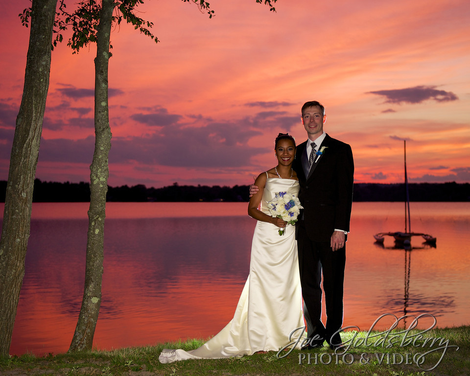 Sunset at the lake at Saphire Estate with Jes & Josh.