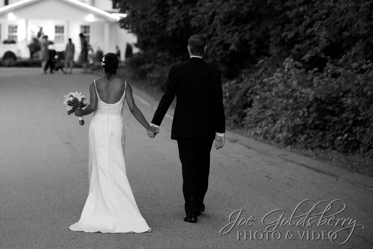 Jes & Josh, walking back toward Saphire Estate, after stealing a few moments alone.