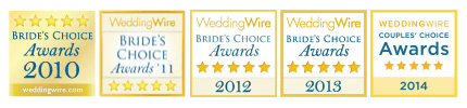 We have over 50 five star reviews on Wedding Wire