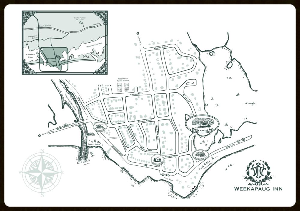 Custom Map,  Weekapaug Inn