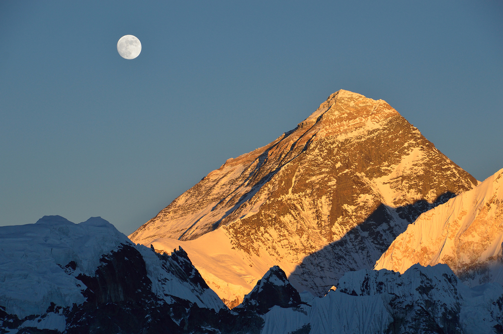 Moonrise, Mount Everest, From Gyoko Ri, Nepal