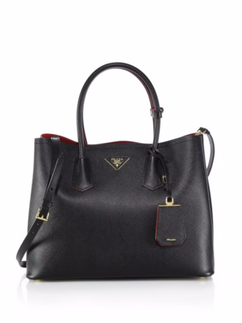 Prada, Saffiano Cuir Medium Double Bag