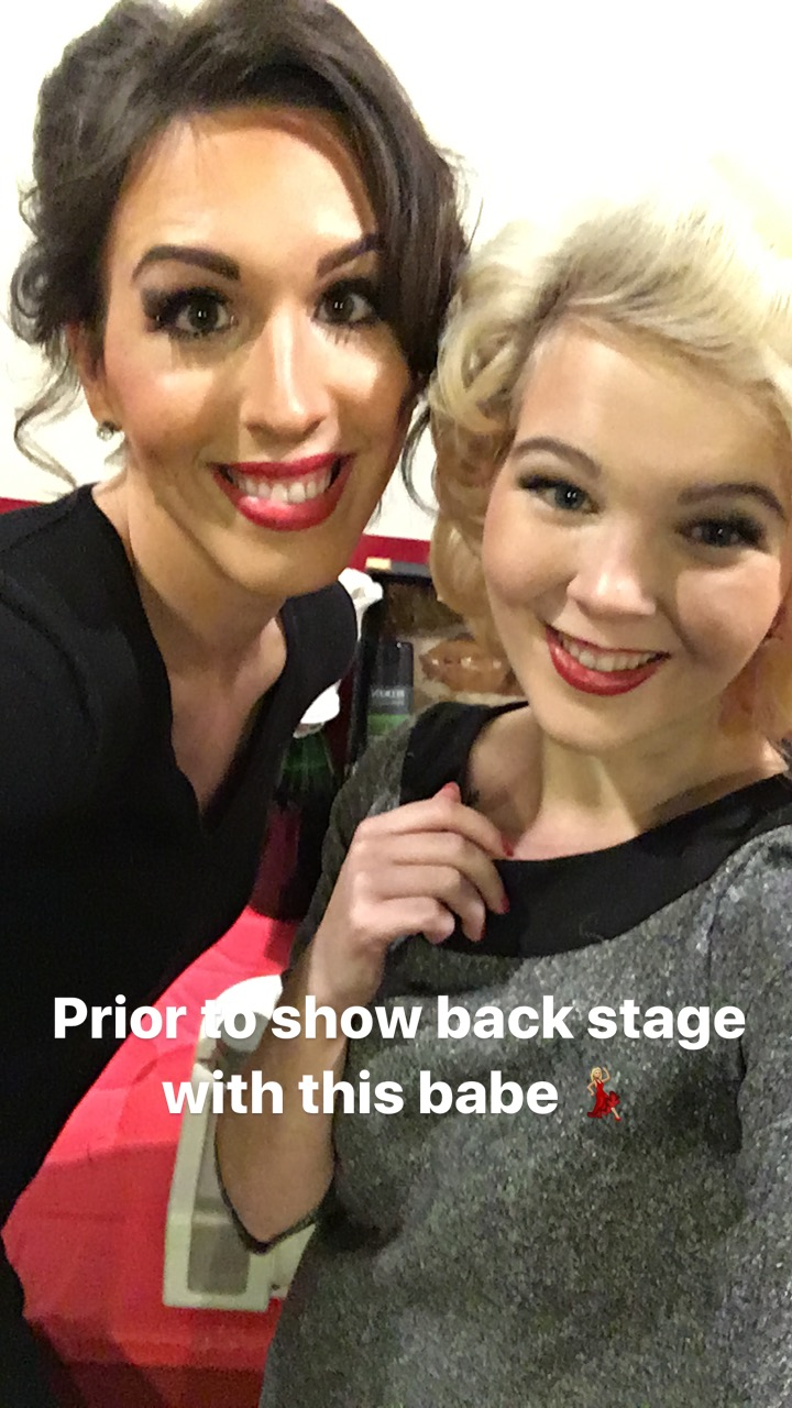 Divauna Taravella and I backstage prior to the show.