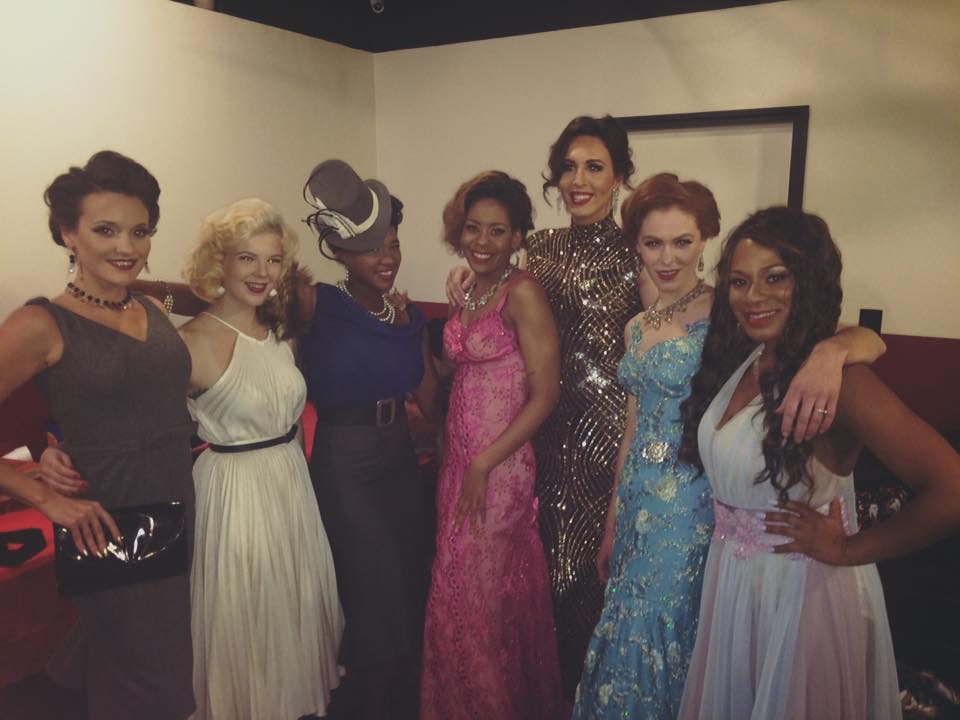 Models Left to Right:  Malori Bailes , Bree Fesh (aka ME!),  Cheryl Mills ,  Bianca Camille Clark ,  Divauna Taravella ,  Joanna Wentling , and  Kimberly Stubblefield (Lapsley)