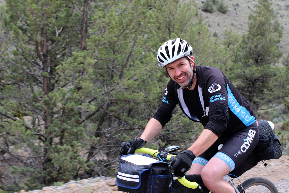 Brian- full of smiles and a solid rider. Cruising the first big descent of the day.