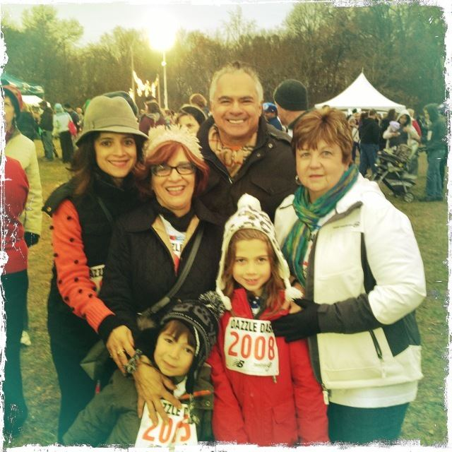 Melissa with her mom Cathy, dad George, mother-in-law Cheryl and kids Kingston + Colette