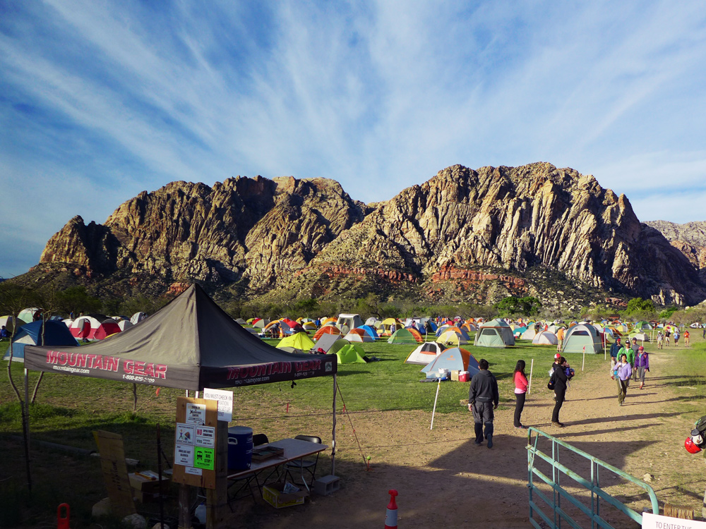 The Campground, aka TENT CITY at the climbing festival.
