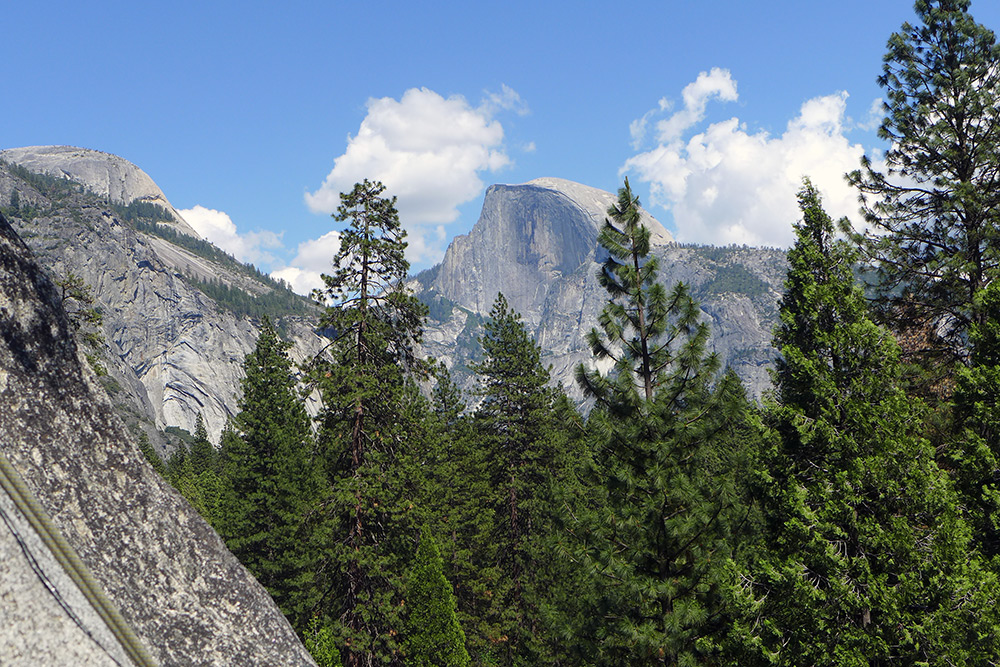 Half Dome, as seen from the Swan Slab crag.