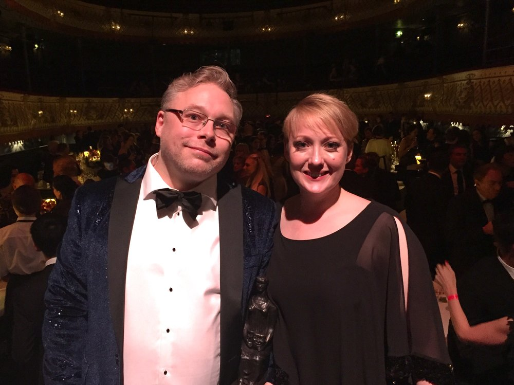 Evening Standard Theatre Awards: Gareth Fry & Laura Fry