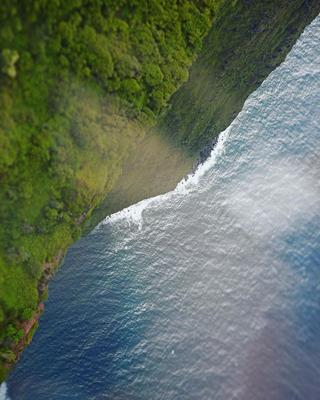 Drones can be fun but nothing can compare to flying over a 2000ft cliff face and looking straight down. An image from this afternoon's adventure to Molokai with @airmaui. 💙🚁