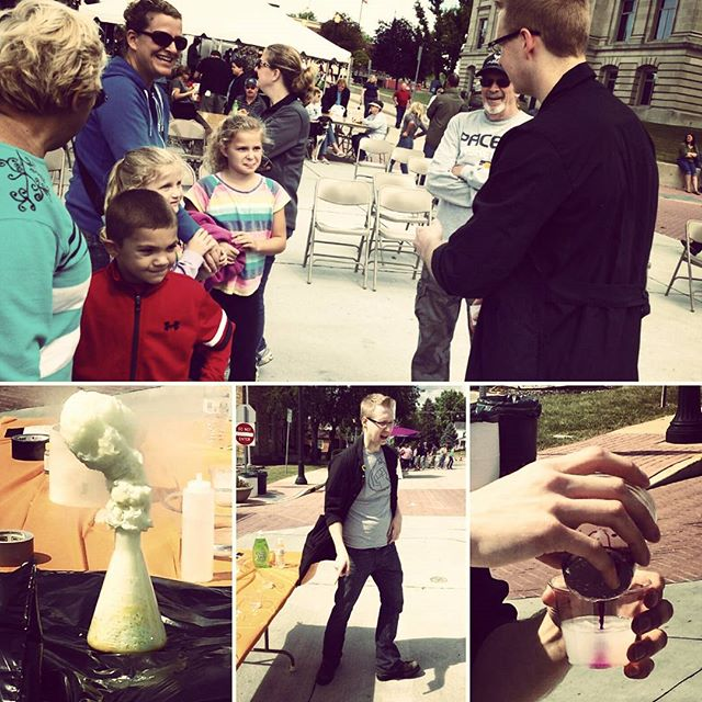 Some highlights from Don's #chemistry show .@danvillein Fair on the Square! #Zombie #Science at 3!