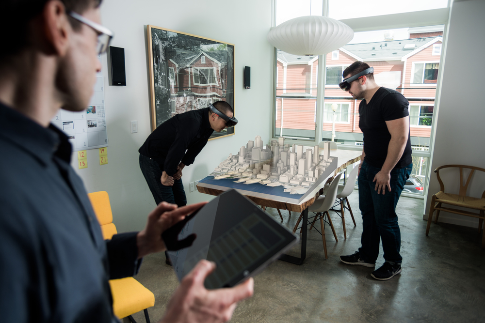 HoloLens testing is done on the Skanska 2+U Seattle Downtown Holograms using the Microsoft Surface as a remote device.