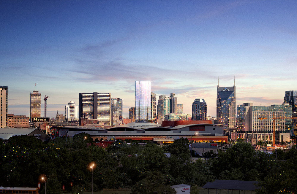 505 tower immersed in the Nashville skyline  | Virtual Rendering by Studio 216