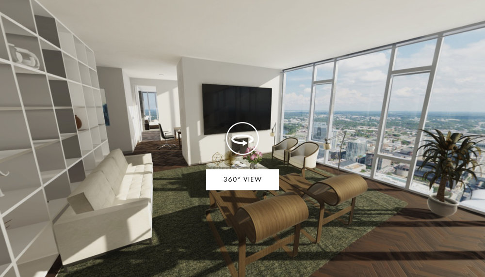 360 Rendered Photospheres are a fully immersive way to extend your renderings to 3 dimensional space. Photospheres provide a 360° view from a fixed perspective, allowing you to feature unique elements of an area.