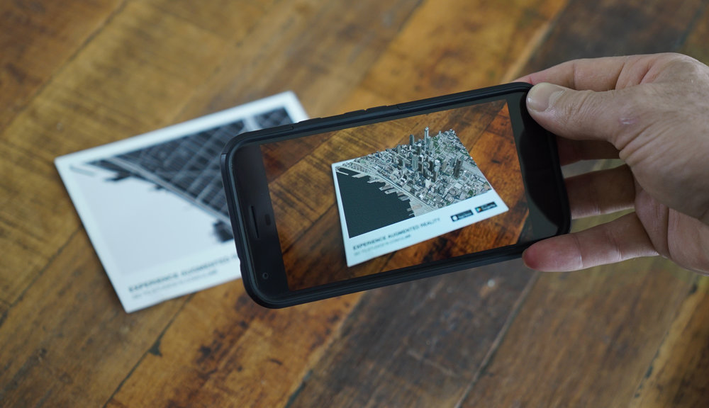 Example Augmented Reality Experience of Downtown Seattle for ULI Spring Meeting Seattle.
