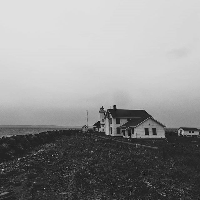 A scene in Washington from a long drive on a dark and stormy road... #washington #lighthouse #spooky #photography  justinleveque.com