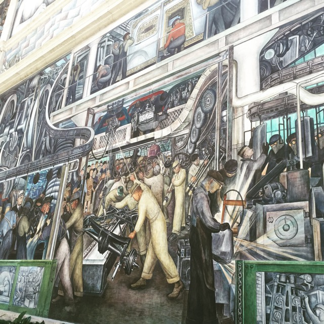 Diego Rivera's industrial murals at the DIA.Really spectacular.