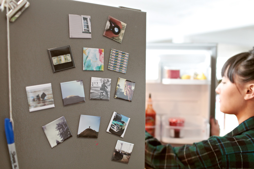 Ahhh...the magnets. These are super fun ways to decorate the fridge, magnetic board, or school locker. Our fridge is covered with these.
