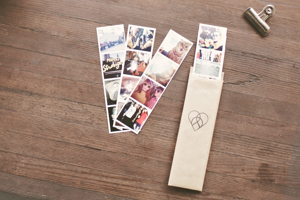 The photostrips would make great mementos for yourself - or for friends. Hang 'em on the fridge, or string 'em up on the wall above your desk. Old school fun.