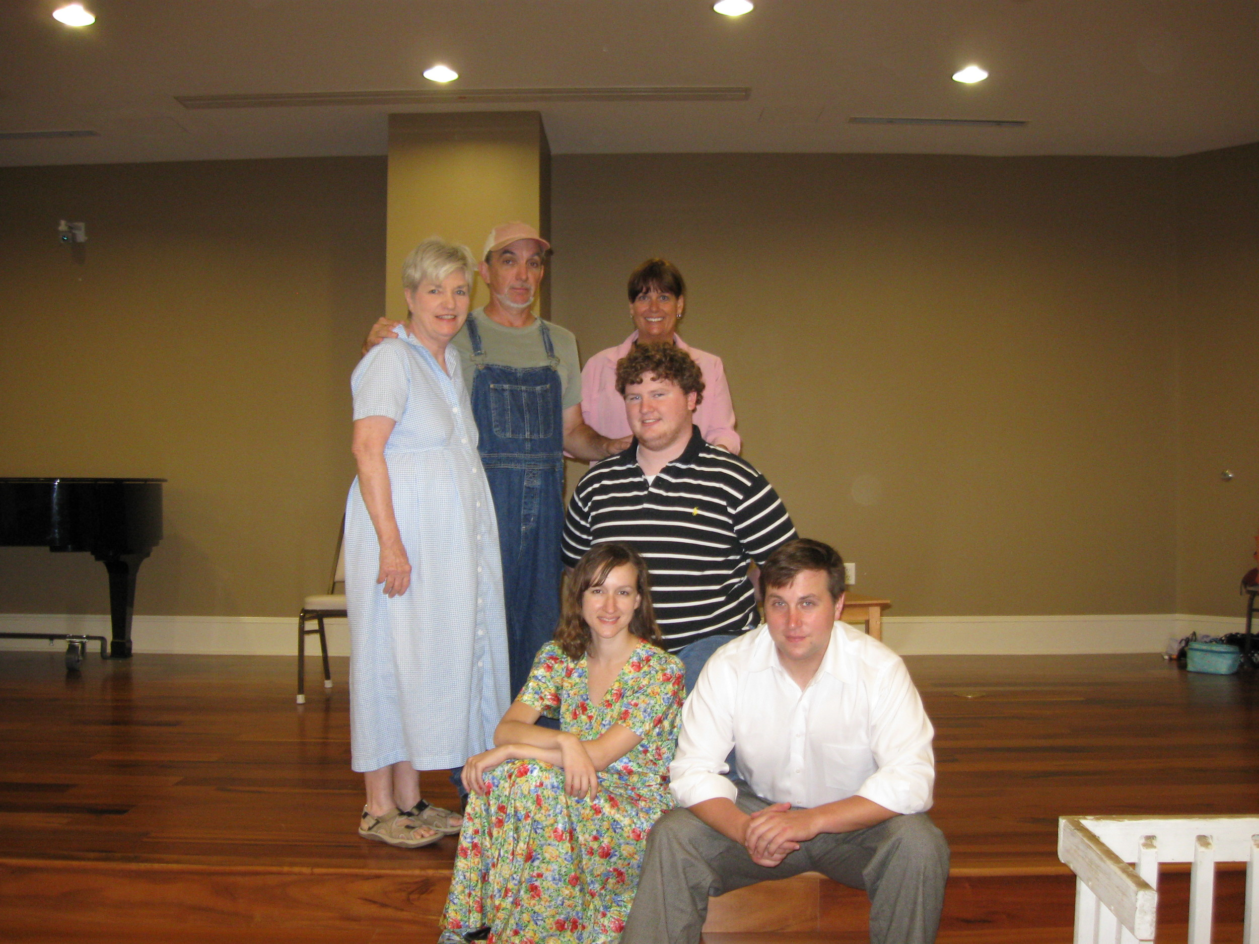 Pat Smith (Ma),  Dennis Colburn (Al aka: Pa), Patty Meredith (Stage Manager), Garrett Mann (Al Jr. - my bro), me (Jenny), Sebastian Daskawicz-Davis (Homer - my love interest)
