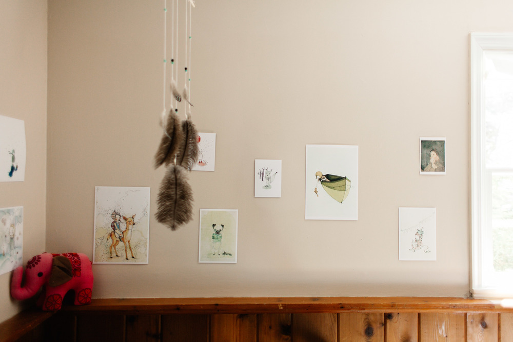 feather mobile | Jennifer Tippett Photography