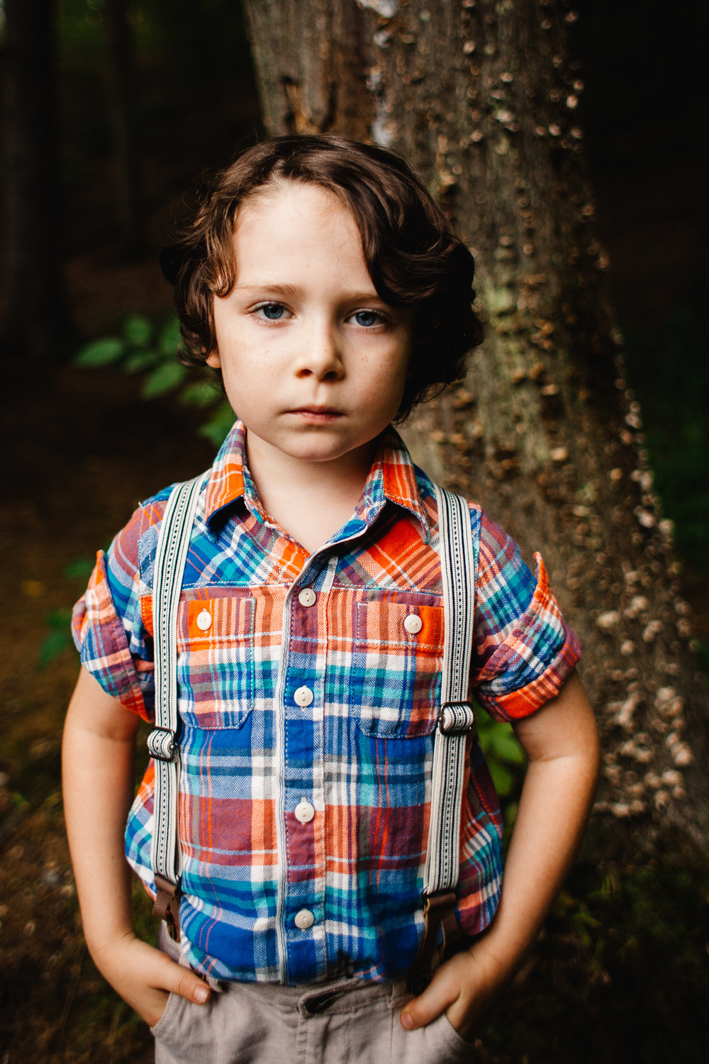 little boy in suspenders | fall photo sessions | stylized photo sessions for kids Long Island | Jennifer Tippett Photography
