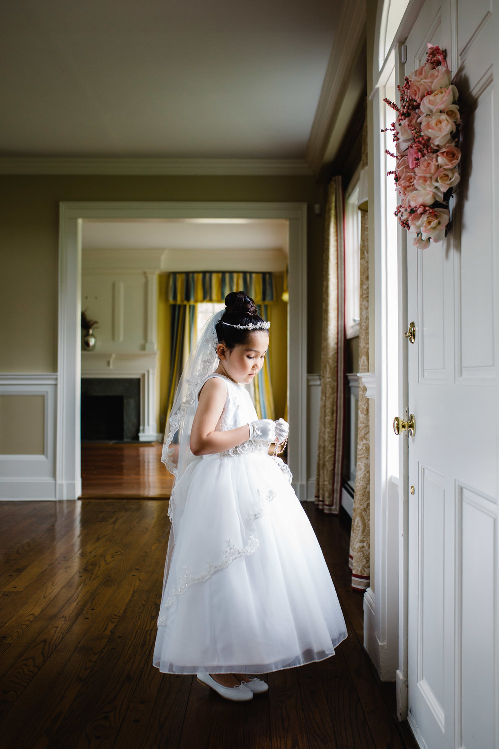 first communion portrait session at home | Jennifer Tippett Photography