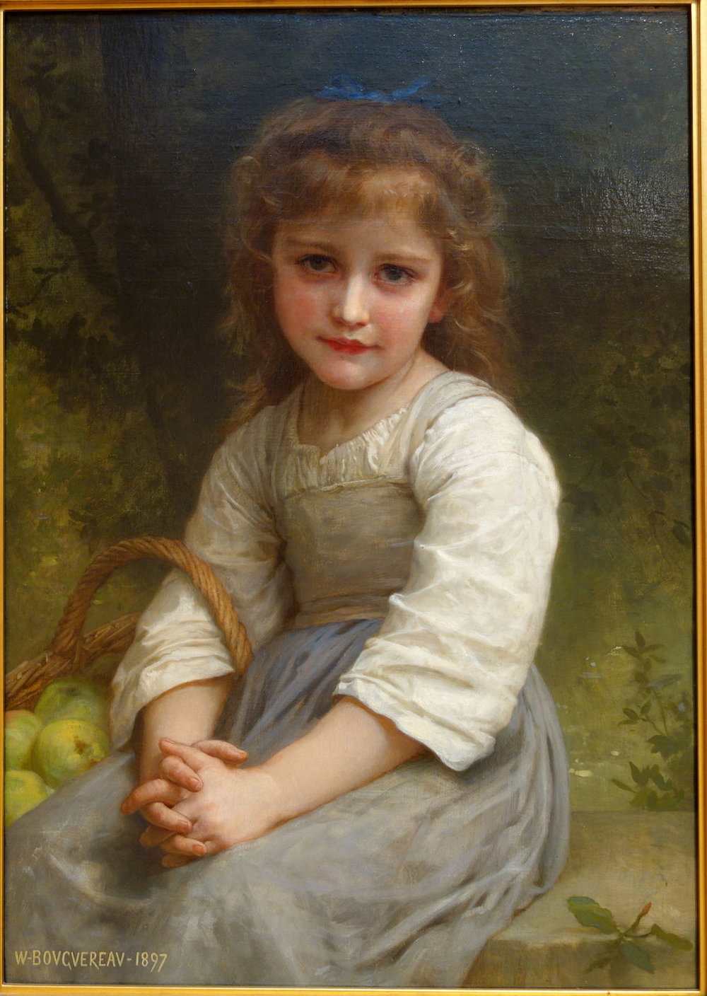 Inspiration // LITTLE GIRL WITH A BASKET OF APPLES // By Daderot // [Public domain or CC0], from Wikimedia Commons
