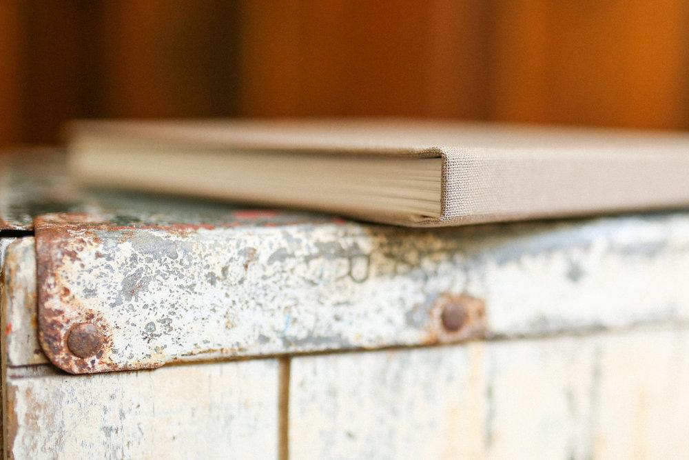 keepsake photo book // taupe linen