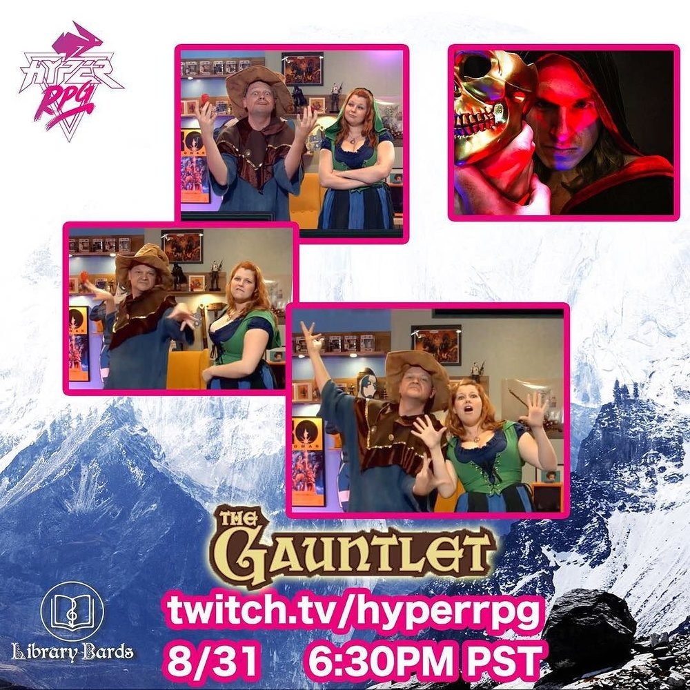 TONIGHT! It's the return of Weezleteets and Blythe! Catch us on #TheGauntlet on @hyperrpg at 6:30pm PST (twitch.tv/hyperrpg)