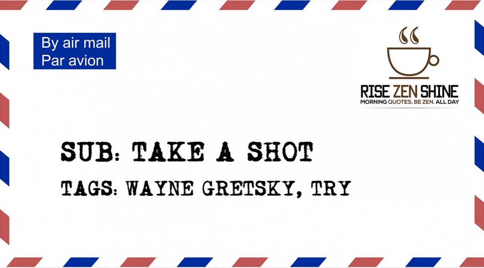 Take A Shot Kaizen2kairos