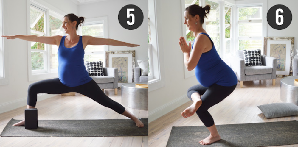 Stretch & Glow Prenatal Yoga Triangle Pose