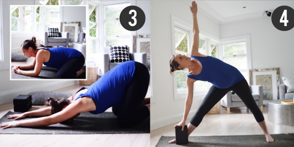 Prenatal Yoga Basics Triangle Pose