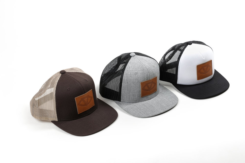 Trucker Snapbacks w/ Vegan Leather Patch