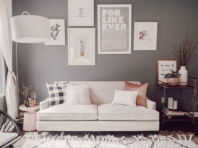 Such a soft & pretty room. #Repost @zoewithloveblog with @Rep0stApp • • • • • • • Spring cleaning and flowering branches. I don't care how cold it is. ••• http://liketk.it/2uZls @liketoknow.it #liketkit @liketoknow.it.home #LTKhome #zoewithlovehome