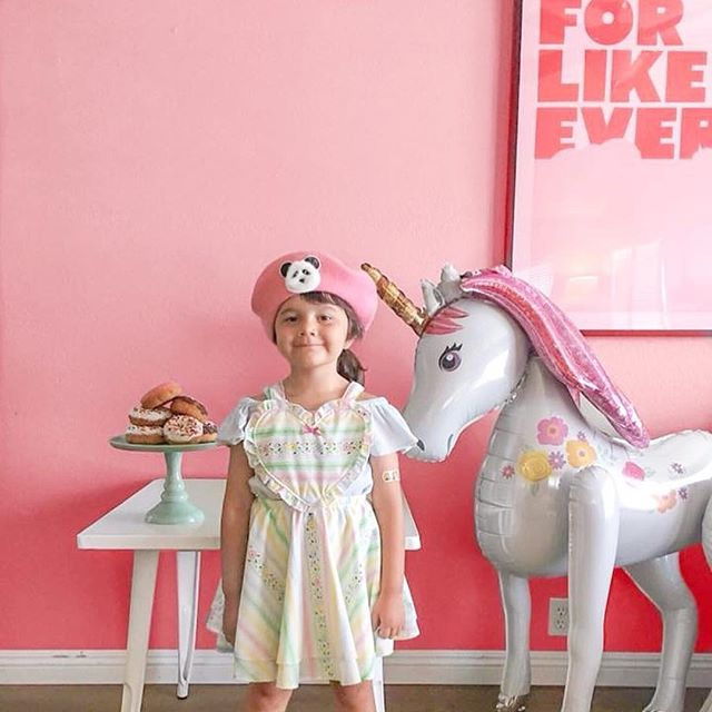 "Adorbs! #Repost @ithinkolivejuice with @Rep0stApp • • • • • • • She's just like her mama and spent the entire day saying ""best birthday ever!!!"" I'm pretty sure that all you want as a parent is to give your kid a day filled with happiness, love and family! #oliveis5 #olivelouise #bestdayever #forlikeever #unicorns #donut"