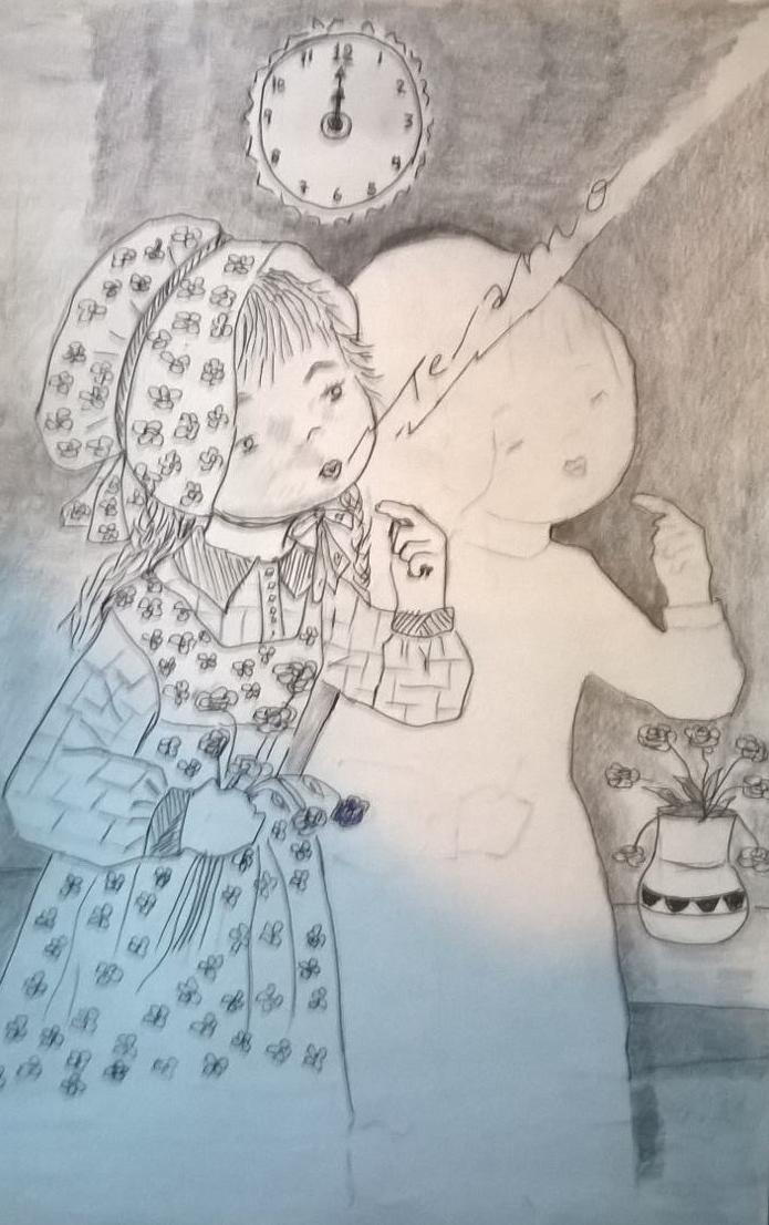 Illustration: La niña helada by Rosa Suárez González