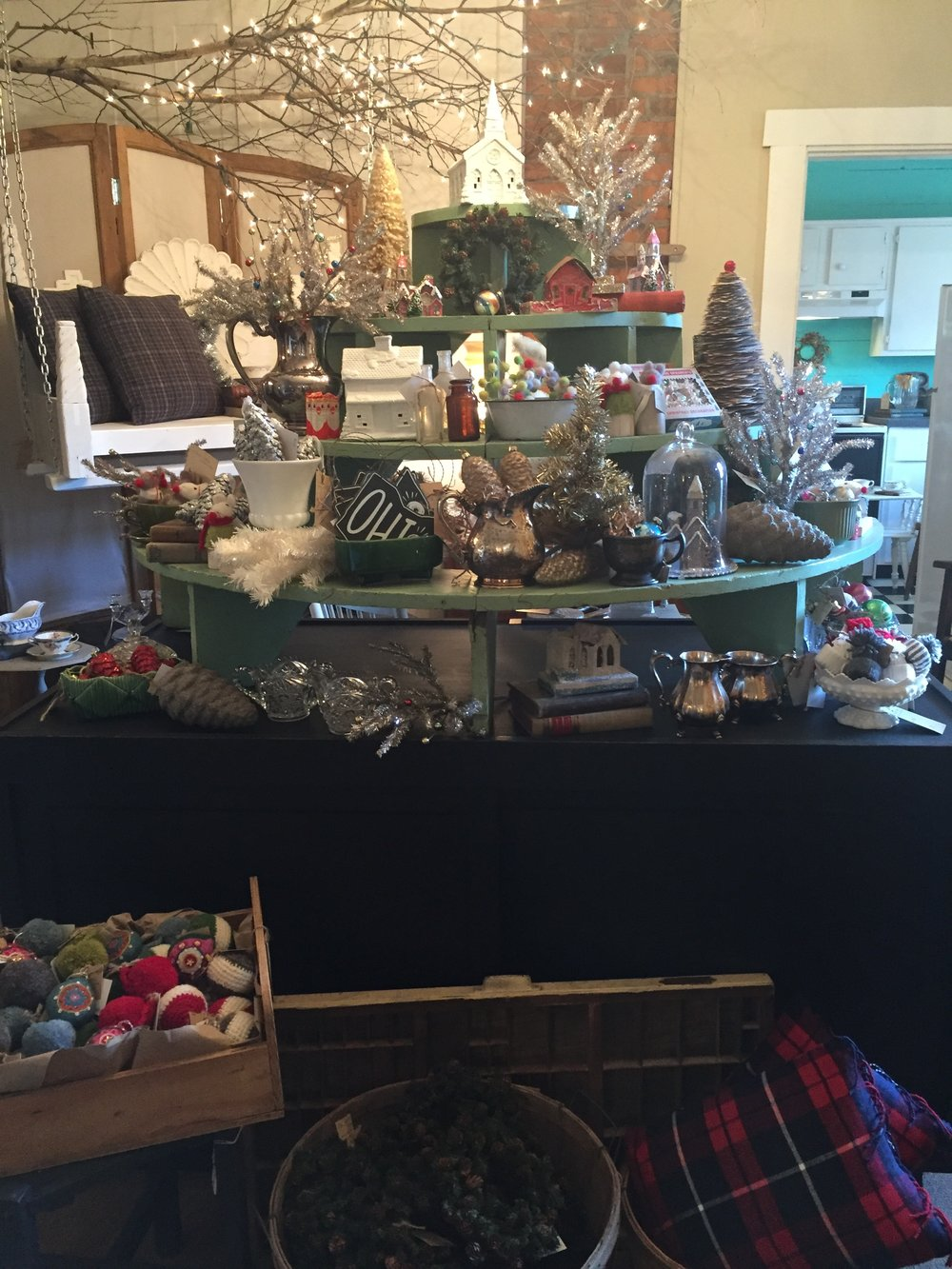 What a great display! This gives customers a great look at many of our Christmas items, perfect for gifts!
